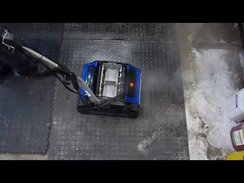 Duplex cleaning dimpled rubber flooring