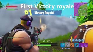 First Victory Royale on Fortnite with cousin