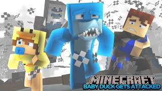 Minecraft -  BABY DUCK GETS ATTACKED BY BIG FOOT!!!