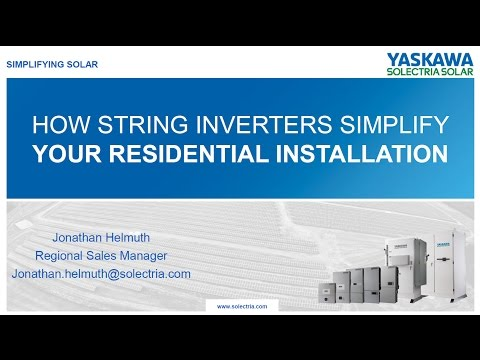Resdintial String PV Inverters - Yaskawa – Solectria Solar