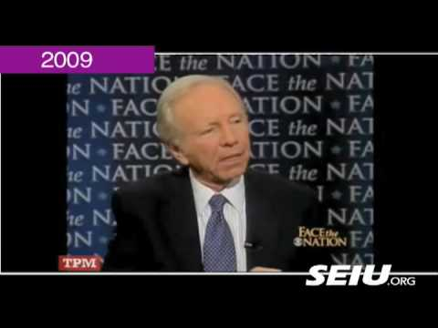 Joe Lieberman of 1995 vs. Joe Lieberman of 2009