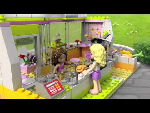 Lego Friends | 41035 | Heartlake Juice Bar | Lego 3D Review - YouTube