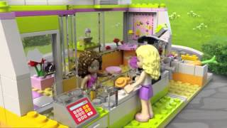 Lego Friends | 41035 | Heartlake Juice Bar | Lego 3d Review