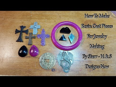 How to make resin pieces for jewelry making