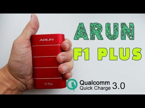 ARUN F1 Plus - КРУТОЙ POWERBANK С QUICK CHARGE 3.0