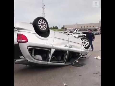 Tornadoes destroy car dealership in Missouri