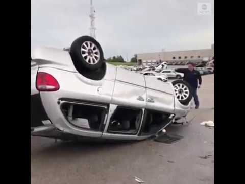 Tornadoes destroy car dealership in Missouri