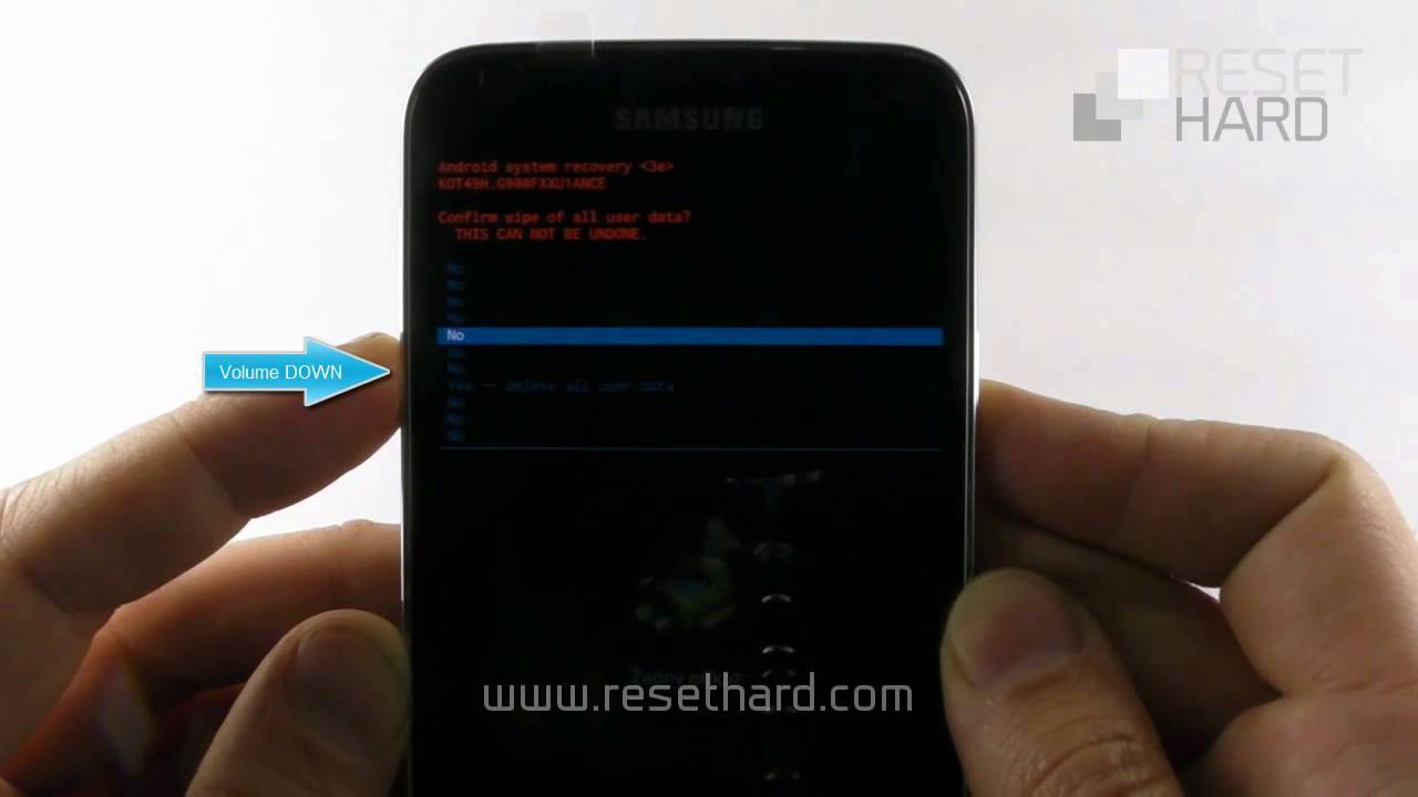 How To Hard Reset Samsung Galaxy S5  YouTube