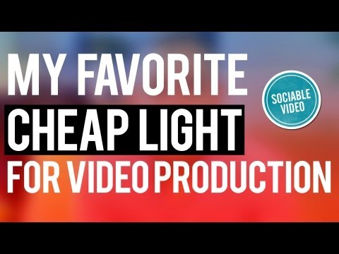 My Favorite Cheap Lighting Option For Video Production - Sociable Video Sessions