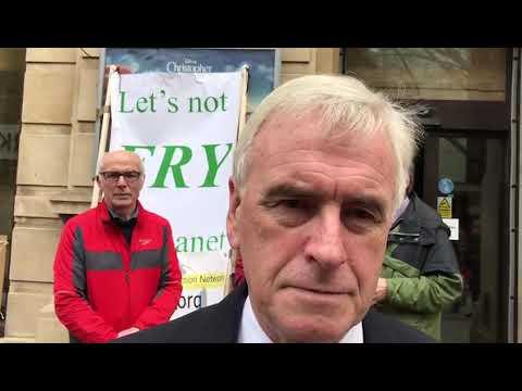John McDonnell Speak to Unity News regarding sustainable economics