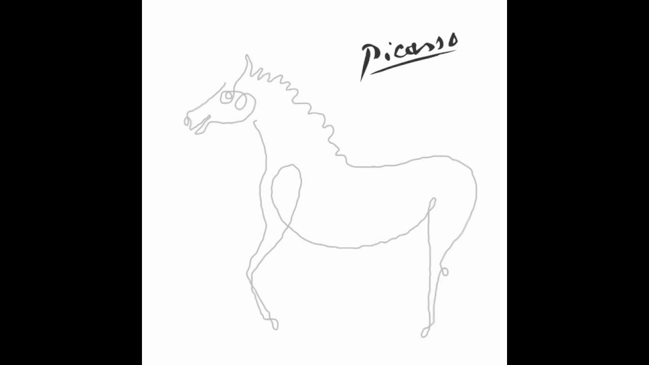 One Line Art Animation : Picasso one line drawing animation youtube