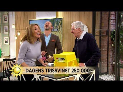 Se när Trissvinnarens kommentar får Tilde och Peter att gapskratta - Nyhetsmorgon (TV4)