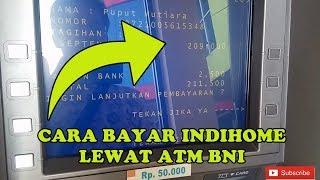 Bayar Tagihan Internet Telkom IndiHome Lewat ATM BNI