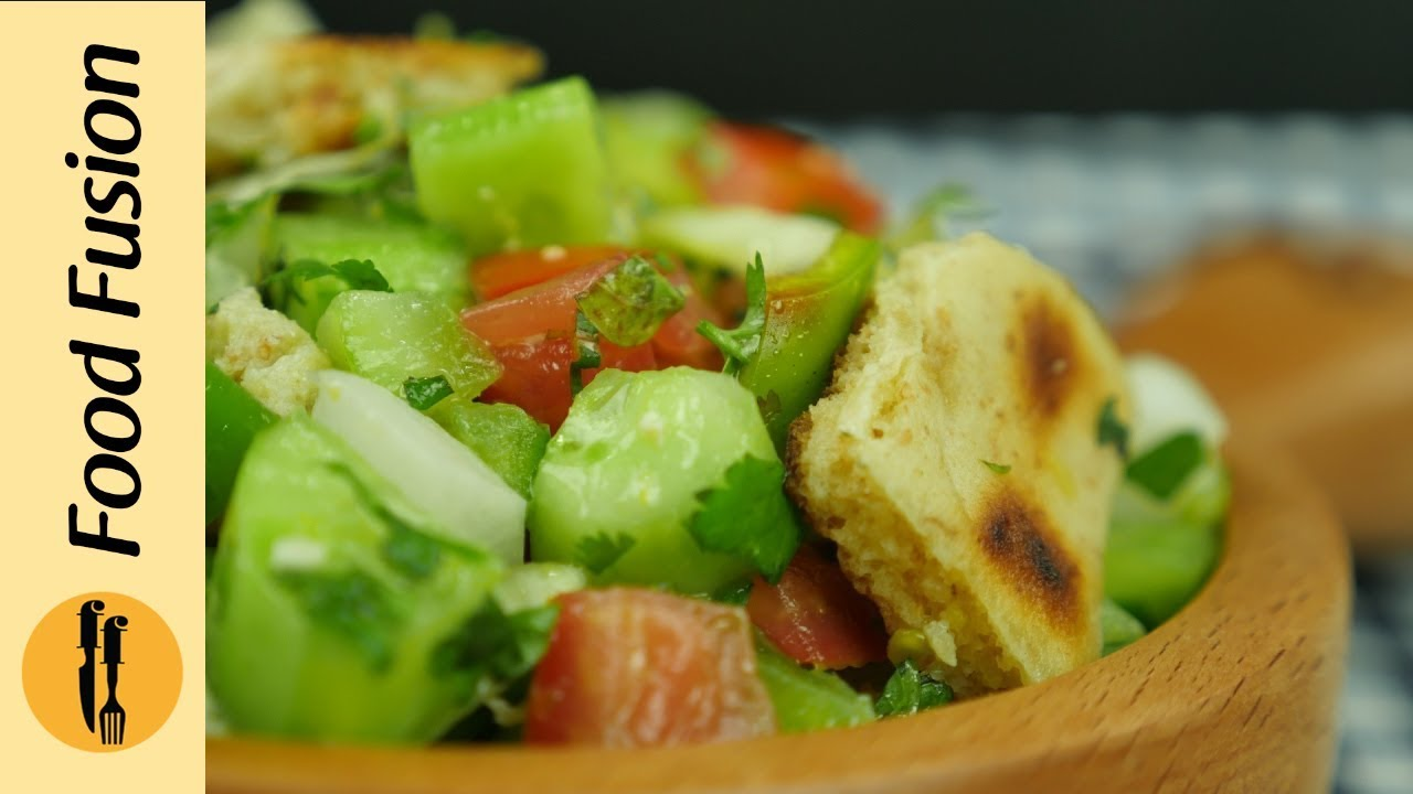 Fattoush Salad Recipe By Food Fusion Youtube