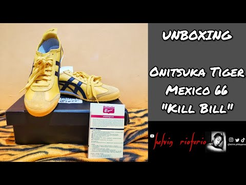 📦 VinThings | Unboxing My First Onitsuka Tiger Mexico 66 Sneakers Yellow Black | FIRST VLOG