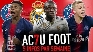 L'ACTU FOOT : PARIS offre 110M pour 2 CRACKS DE L'AJAX I ZIDANE relance la piste KANTÉ