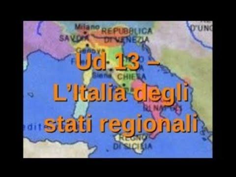Cartina Italia Nel 400.Storia1 Ud 13 Gli Stati Regionali In Italia Youtube