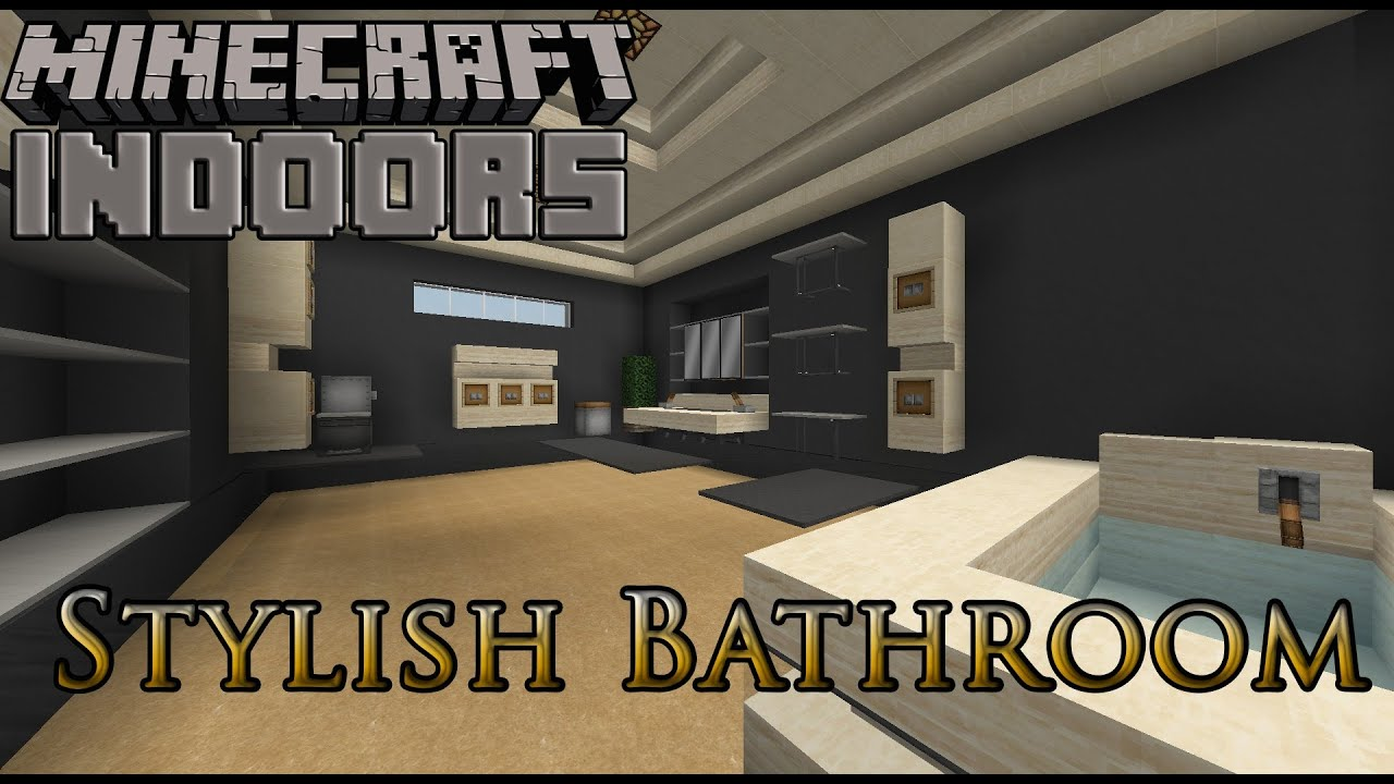 Stylish bathrooms minecraft indoors interior design for Minecraft house interior living room