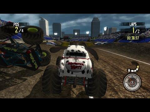 Monster Jam: Path of Destruction Wii Gameplay HD (Dolphin Emulator)