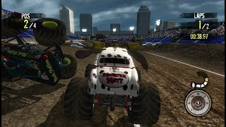 Monster Jam: Path of Destruction Wii Gameplay HD (Dolphin Emulator)