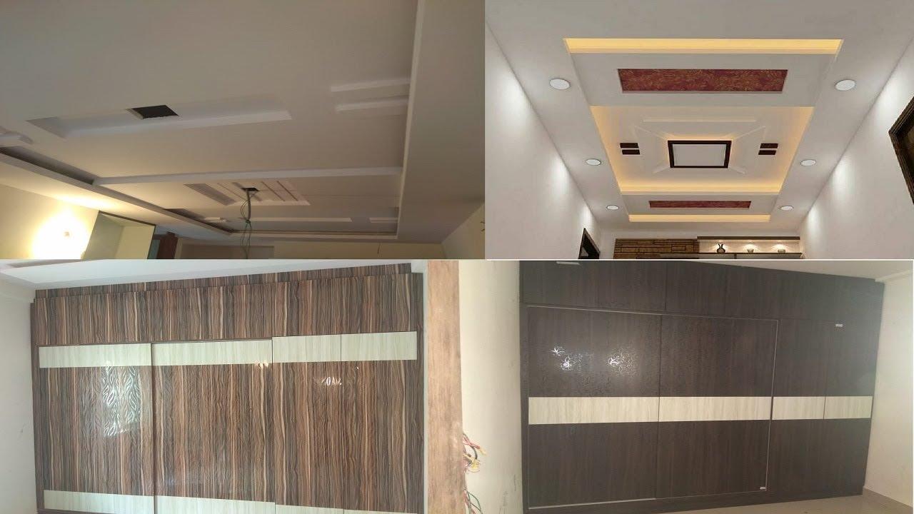 2 Bhk Apartment Interior Design Small 2bhk Bedroom Wardrobe Living Room False Ceiling