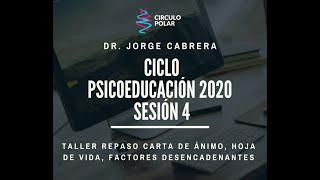 Cuarta Charla Ciclo Psicoeducación 2020 Dr Jorge Cabrera