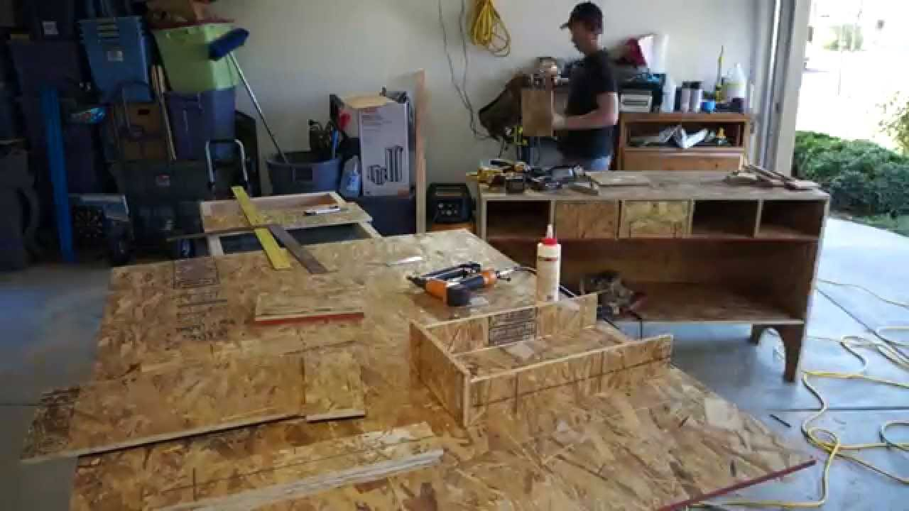 50 Osb Plywood Tool Hutch Cabinet Youtube