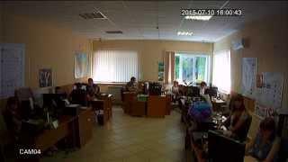 Дневное видео (режим AHD-Н) с купольной AHD камеры на базе модуля 1/2.8