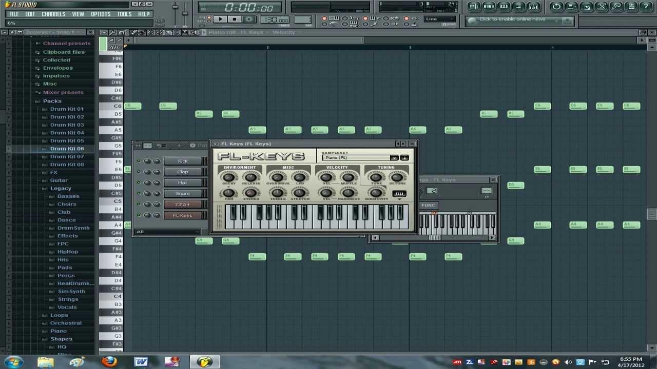 Fl studio 10 звуки скачать