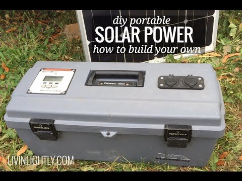 Diy Portable Solar Power Youtube
