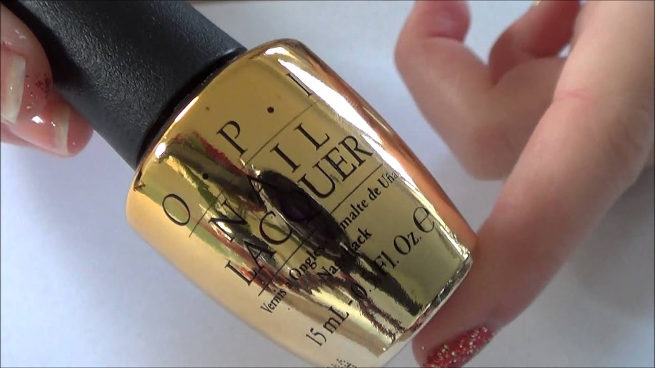 Excellent Nail Polish In Eye What To Do Thin Designs Of Nail Arts Rectangular Nail And Art Nail Art Designs In Blue Youthful Nail Art In London BlackGold Mirror Nail Polish OPI The Man With The Golden Gun Top Coat Swatched   YouTube