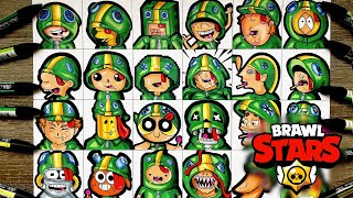 He draws the brawler LEON in 24 DIFFERENTS STYLES !! Braw Stars