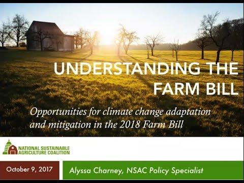CCL Agriculture Series: Opportunities for Climate Change Solutions in 2018 Farm Bill