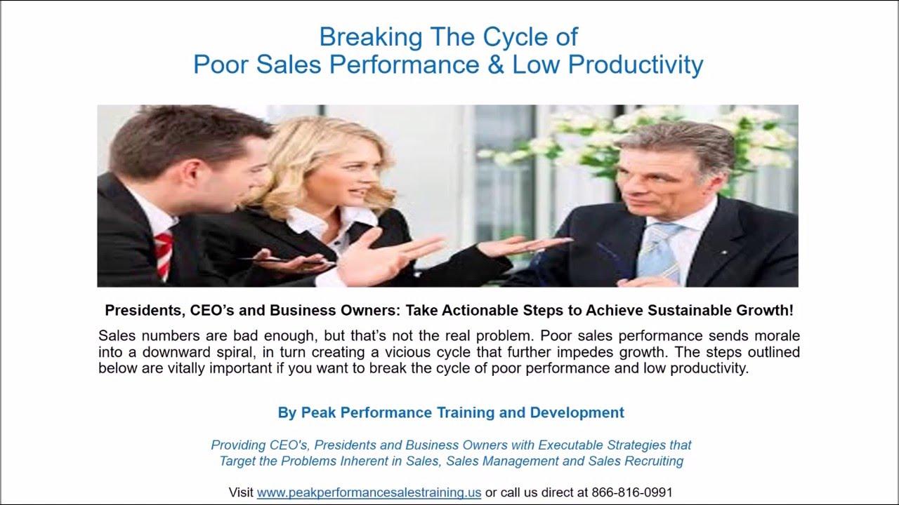 Sales Training Spotlight: Breaking The Cycle of Poor Sales ...