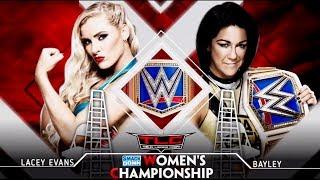 FULL MATCH - Lacey Evans vs. Bay ley - WWE Smackdown Women's Championship : TLC Ladder Match 2019