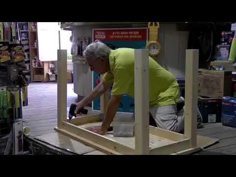 בניית שולחן, הדרכה ופרזול לחיבור קל של רגליים לפלטה – צוות גדרון