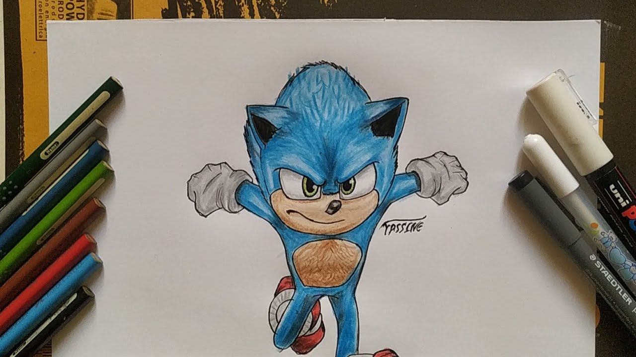 How To Draw New Sonic Design Sonic The Movie S Youtube