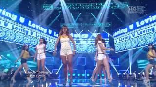 Repeat youtube video Live HD | 120729 SISTAR - Loving U @ SBS Inkigayo 2012 London Olympics Special