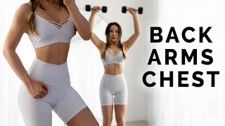 Complete UPPER BODY Workout | Arms Back Chest | Beginner Friendly