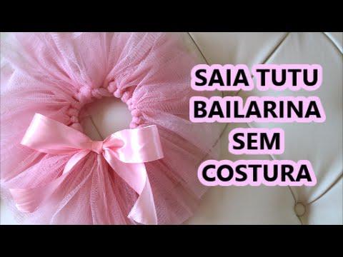 a0d0c565ac Como fazer saia de bailarina sem costura ❤ Cami Deoli - YouTube