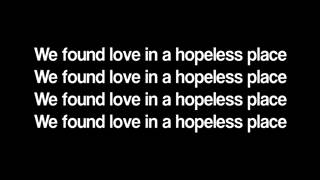 Rihanna- We found love MP3 LYRICS.