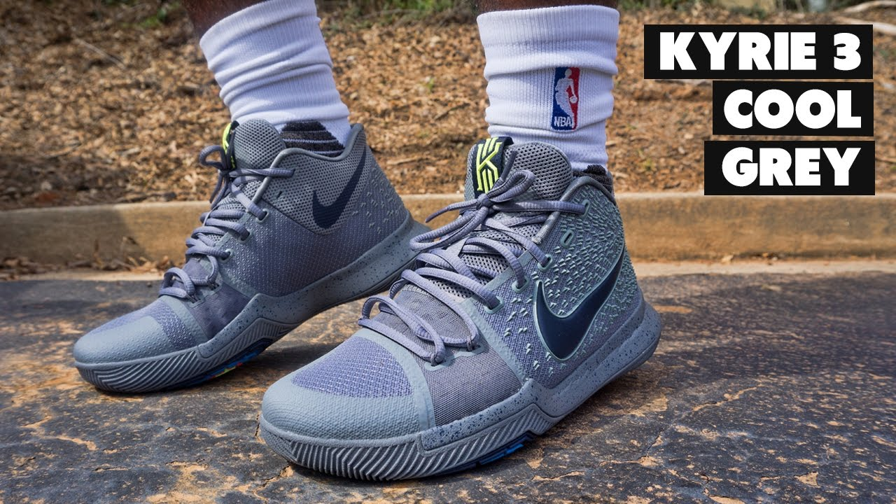 nike kyrie 3 cool grey on feet