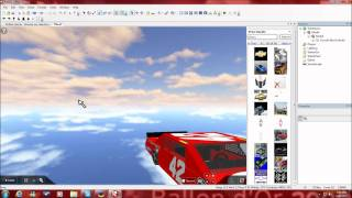 How to make a car for a Nascar Roblox Series on roblox