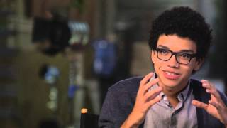 "Paper Towns: Justice Smith ""Radar"" Behind the Scenes Movie Interview"