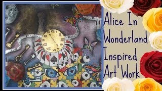 Alice in wonderland inspired art work Thumbnail