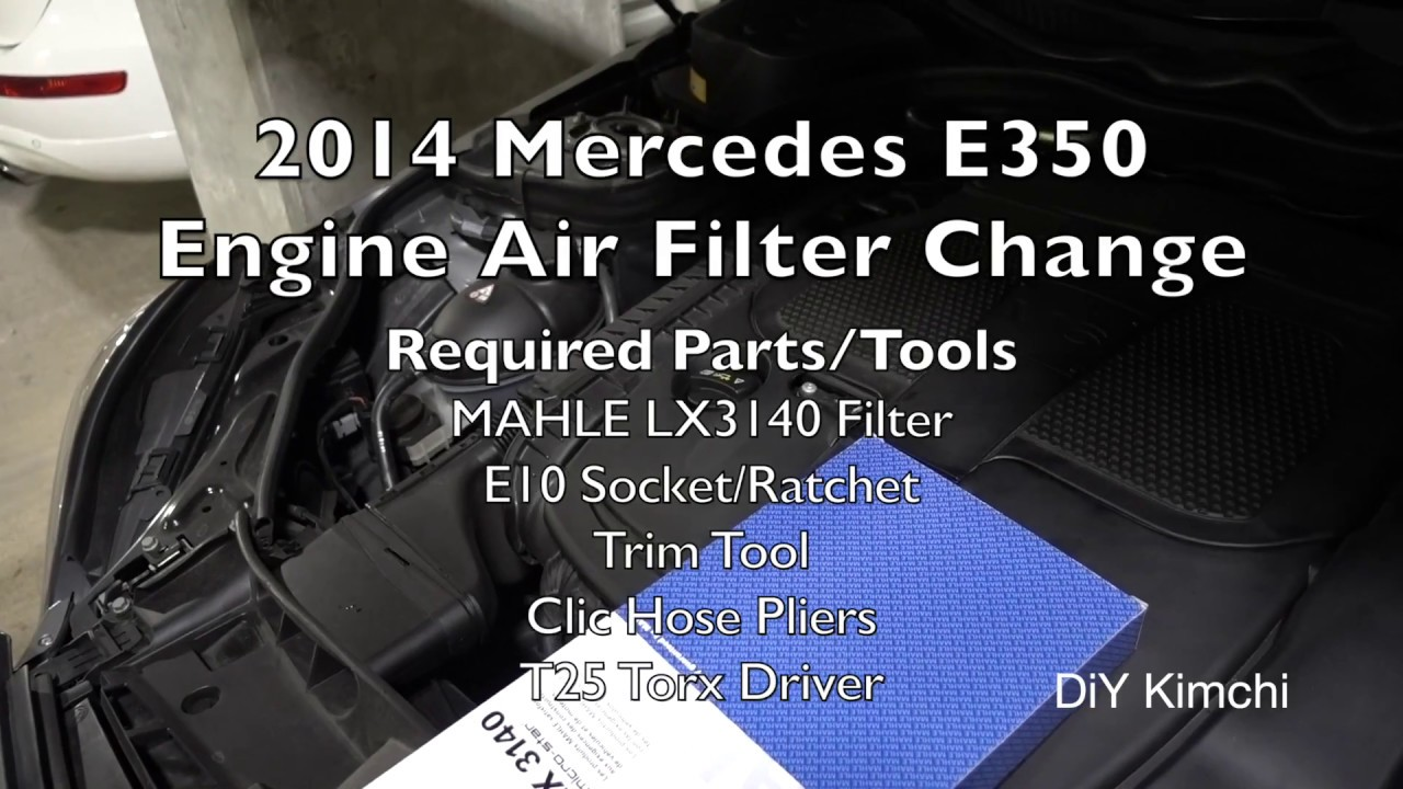 Change Air Filter >> 2014 Mercedes E350 (M276) Engine Air Filter Change - YouTube