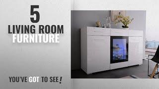 Top 10 Living Room Furniture [2018]: White High Gloss Sideboard Cabinet Cupboard UEnjoy, 150cm 3