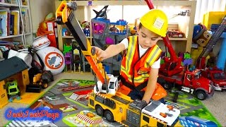Construction Vehicles - Dickie Toys Crane Truck Toy Unboxing and Review | JackJackPlays