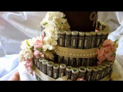 Money Cake For Mom S 90th Birthday Youtube