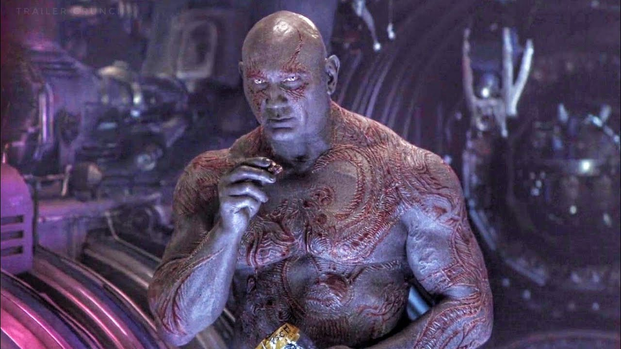 Dave Batista as Drax from Guardians of the Galaxy 2.